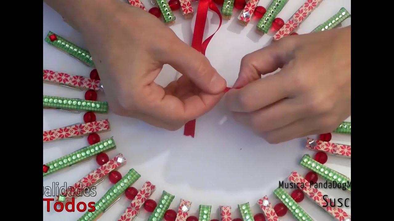 Vídeo com 3 ideais de decoração natalina para você fazer para sua casa