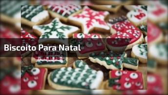 Vídeo Com Biscoito Em Formato De Árvore De Natal Todo Confeitado!