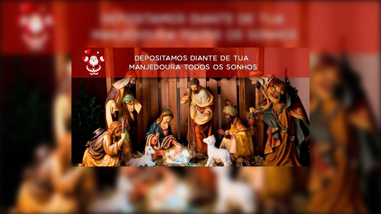 Vídeo com mensagem de Natal Católico Cristão