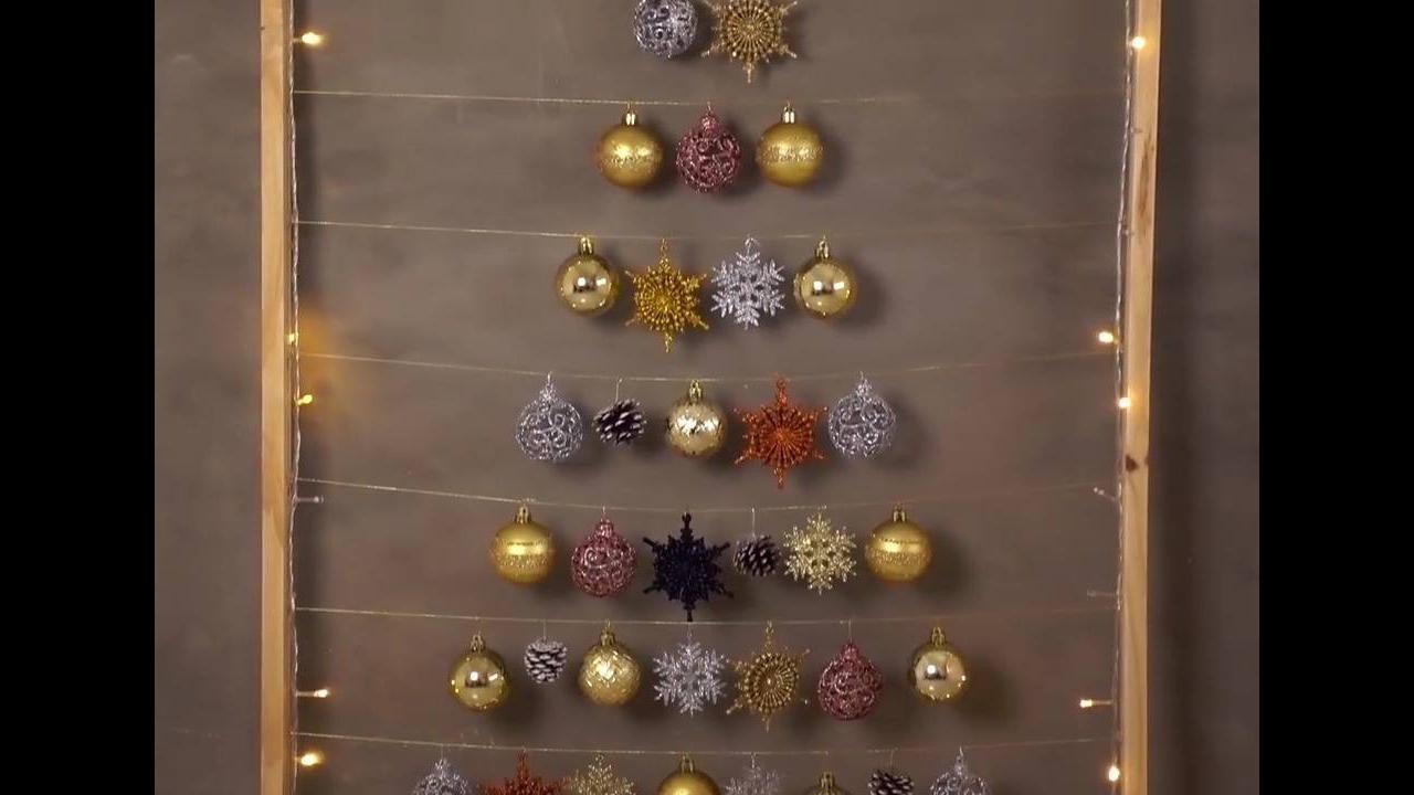 Vídeo com tutorial de enfeites de Natal para parede