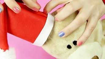 Vídeo Com Vários Enfeites De Natal Feito Com Feltro, É Uma Mais Fofo Que O Outro
