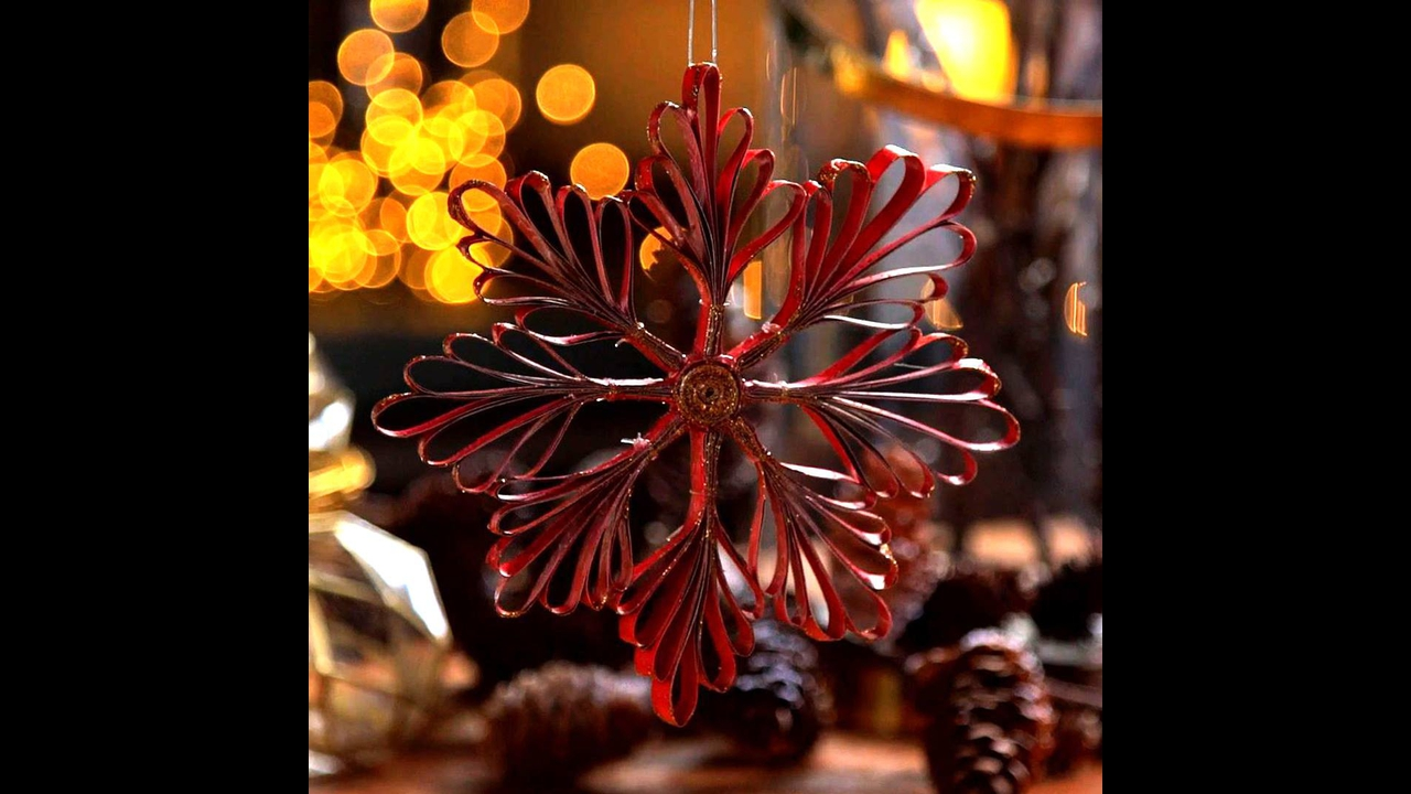 Vídeo de artesanato para decorar sua casa no Natal