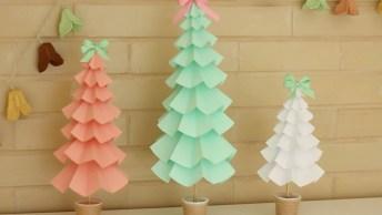 Vídeo De Artesanato Para O Natal! Veja Só Que Árvore Lindinha Para Decorar!