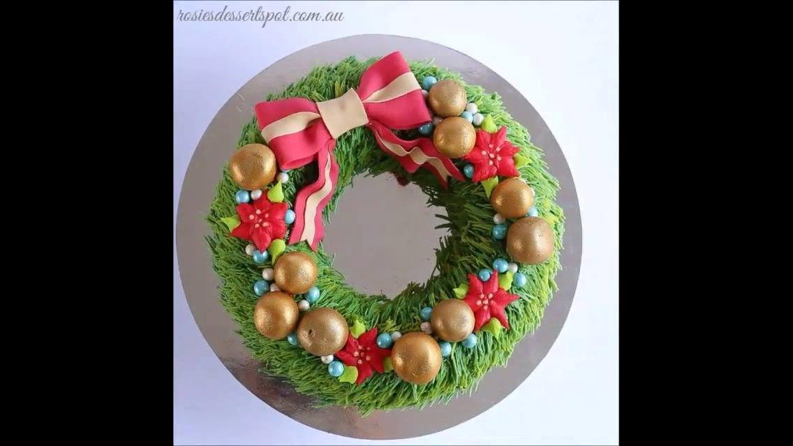Vídeo de bolo de guirlanda para o Natal, olha só que trabalho lindo!!!