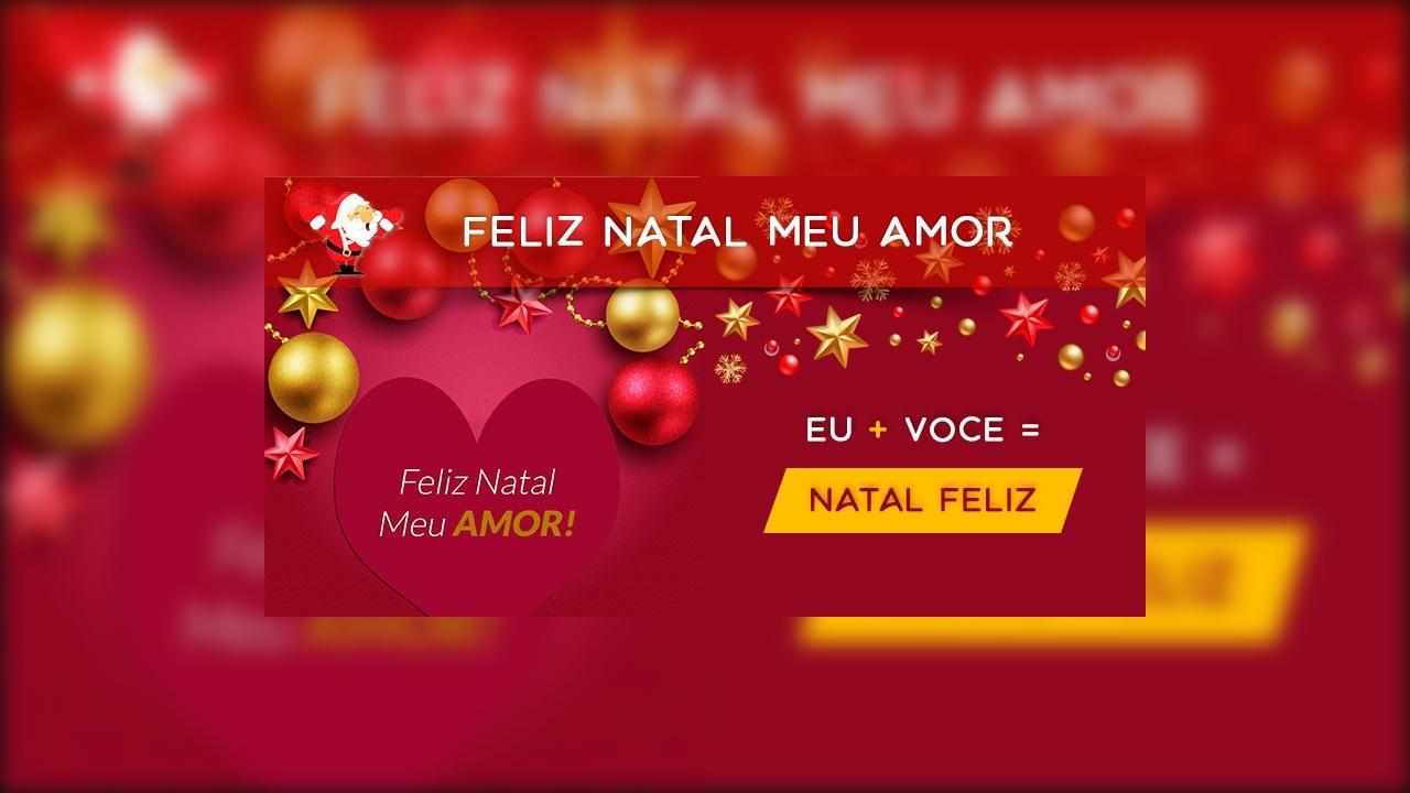 Vídeo de Feliz Natal com mensagem para o amor de sua vida