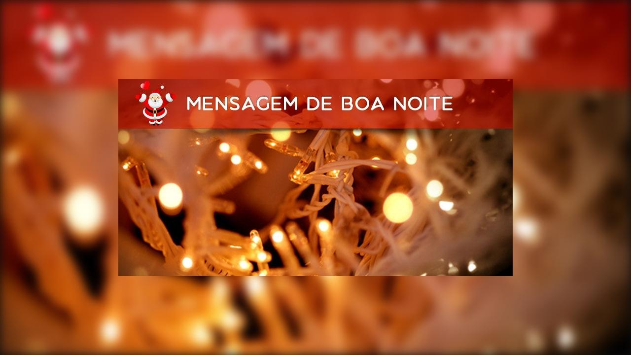 Vídeo de mensagem de Boa Noite e Feliz Natal