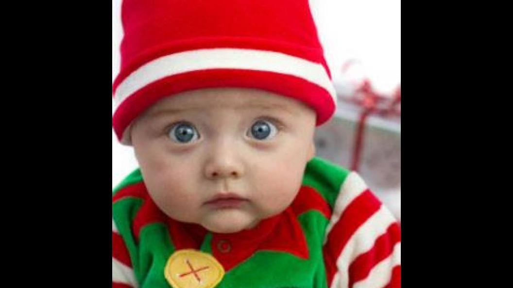 Vídeo de Natal com bebes