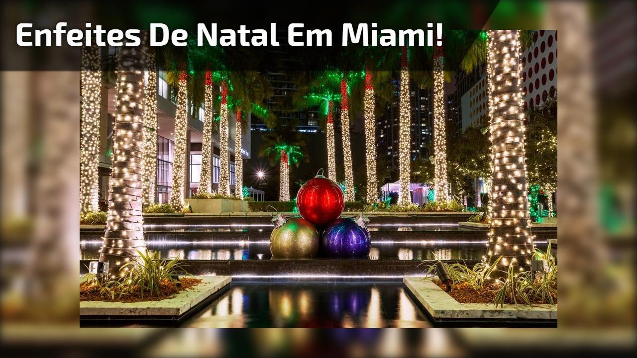 Enfeites de Natal em Miami!
