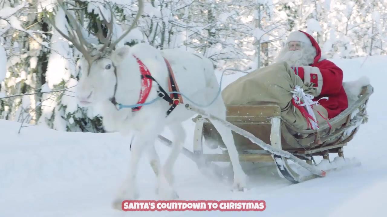 Vídeo de Natal com imagens natalina e Papai Noel