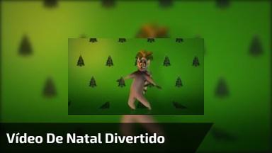 Vídeo De Natal Divertido Com Personagens Do Desenho Madagascar!