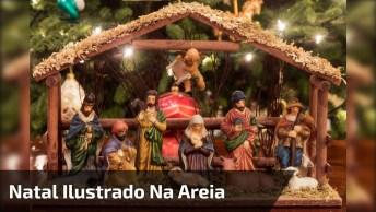 Vídeo De Natal Ilustrado Com Areia, Veja Que Obra De Arte. . .