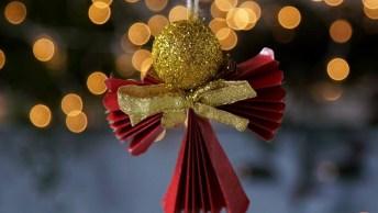 Video De Natal Para Te Ensinar A Fazer Um Lindo Anjinho De Papel!