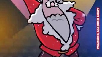 Vídeo Engraçado De Natal, Esse Papai Noel Está Animado Hein? Kkk.