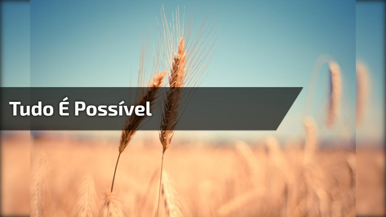 Mensagem Motivacional Evangélica Tudo é Possível Aquele