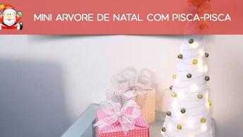 Mini Árvore De Natal Com Pisca-Pisca, Uma Ideia Muito Legal, Confira!