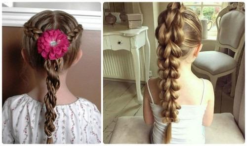 O mesmo penteado feito com tranças