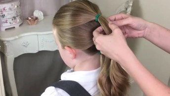 Tutorial Penteado infantil para escola