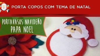 Porta Copos Com Tema De Natal, Aprenda Como Fazer E Deixar Sua Mesa Linda!