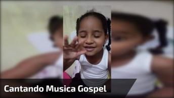 Criança Cantando Música Gospel, Muito Linda E Abençoada Essa Menina!