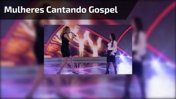 Duas Mulheres Cantando Música Gospel Em Programa De Televisão!