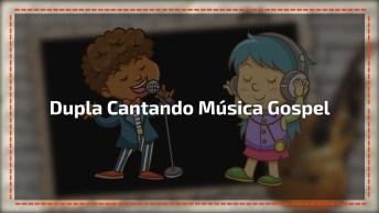 Dupla Faz Apresentação De Música Gospel Dentro Da Igreja, Lindas Vozes!
