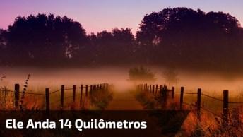 Homem Anda 14 Quilômetros Todos Domingos Para Congregar, Um Exemplo!