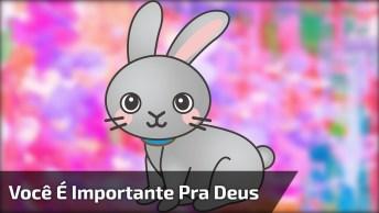 Mensagem De Deus Com Animação De Coelhinho, Que Fofura!