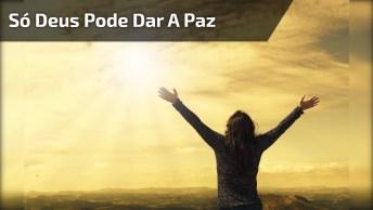 Mensagem Evangélica. Só Deus Pode Dar A Paz, Mas Você Pode Semear A União!