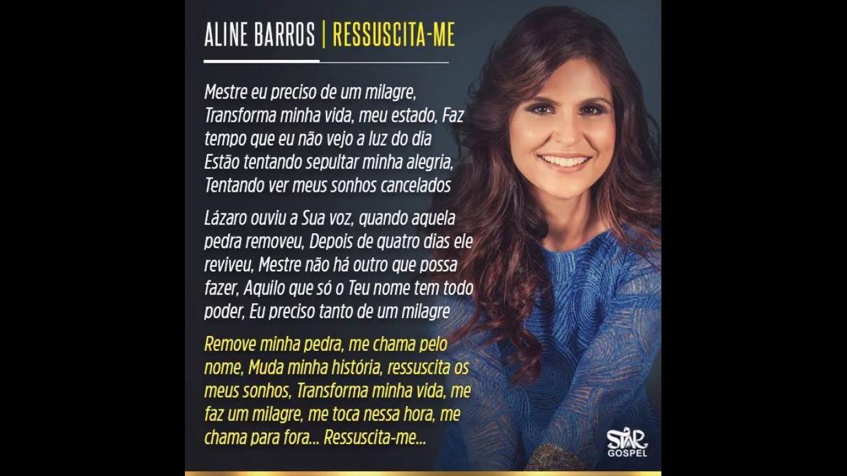 Vídeo com linda musica de Aline Barros Ressuscita-me