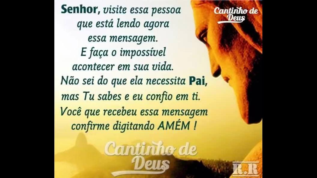 Mensagem de Deus para enviar a todos amigos e amigas