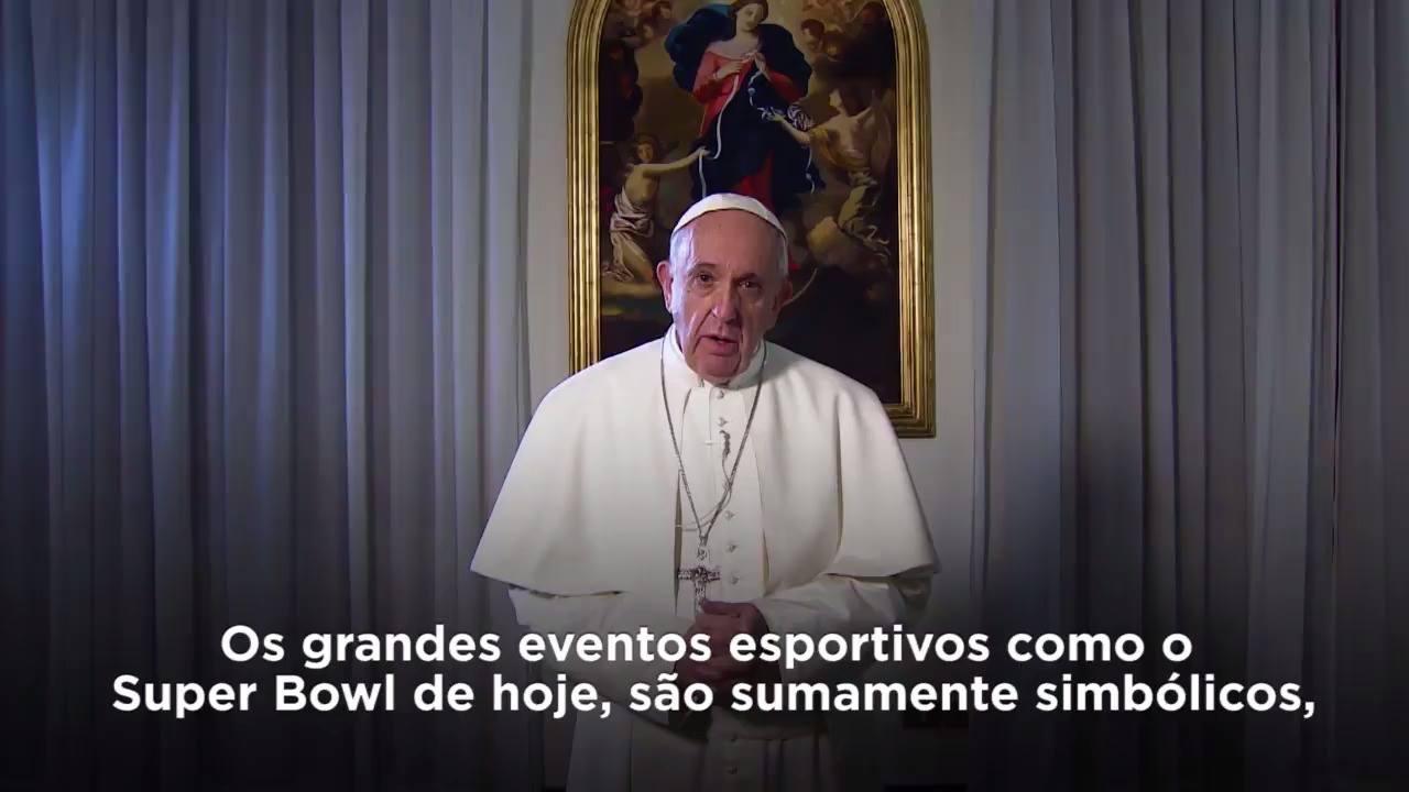 Mensagem de Papa Francisco ao povo americano para a final do Super Bowl