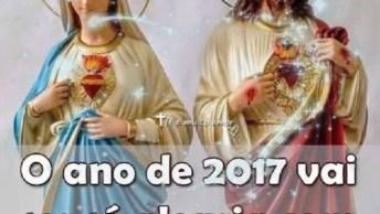 Mensagem Para Ano De 2017 Com Jesus E Maria, Envie Para Seus Amigos!