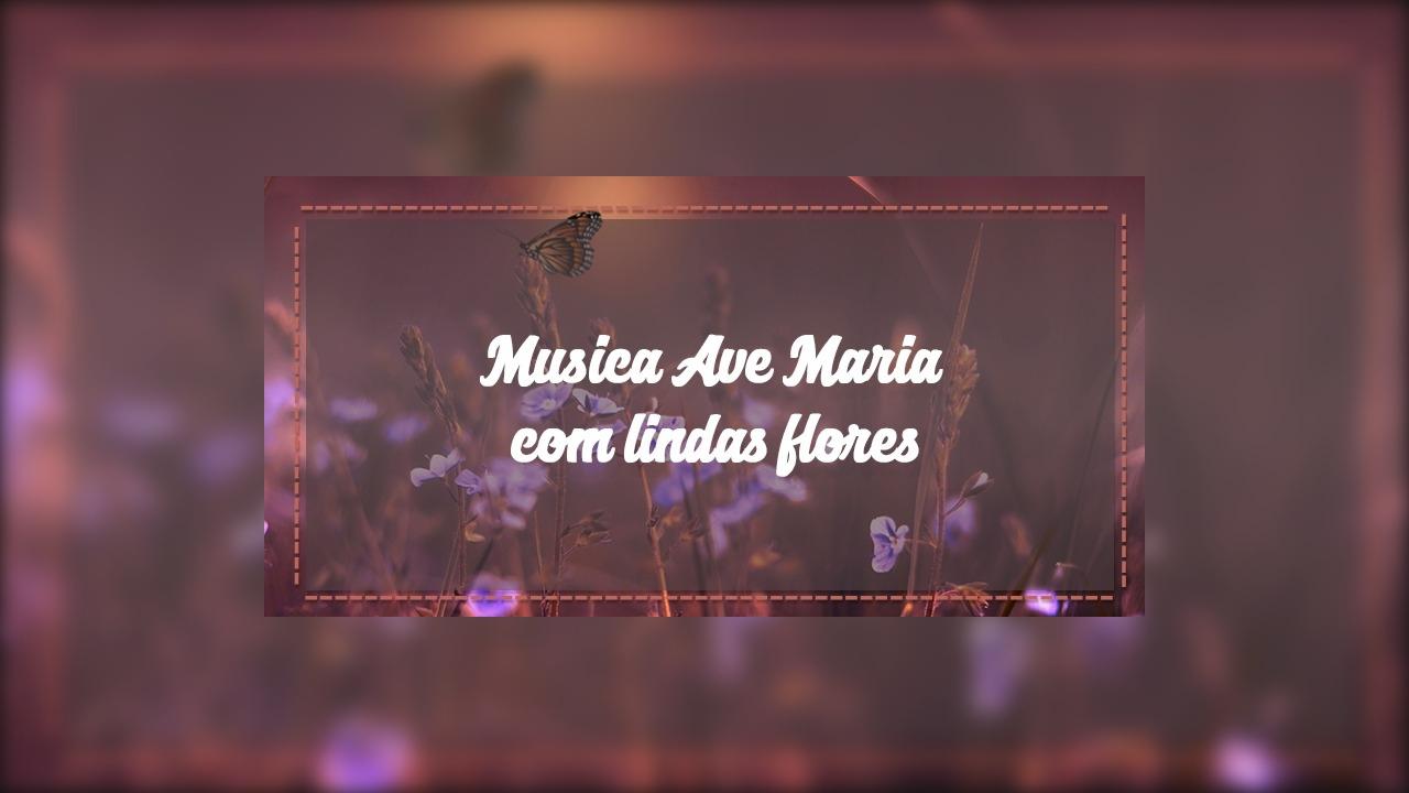 Musica Ave Maria com lindas flores e imagens