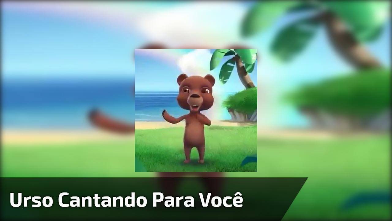 """Vídeo com ursinho cantando """"A alegria está no coração"""", para Whatsapp!"""