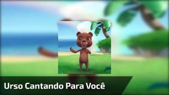Vídeo Com Ursinho Cantando 'A Alegria Está No Coração', Para Whatsapp!