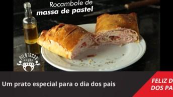 Rocambole De Massa De Pastel, Um Prato Especial Para O Dia Dos Pais!