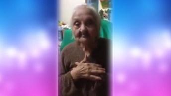 Senhora De 94 Anos Tem Um Recadinho Para Todos Os Homens Solteiros!