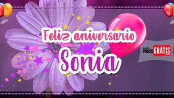 Sonia Feliz Aniversário - Mensagem De Aniversário Com Nome Grátis!