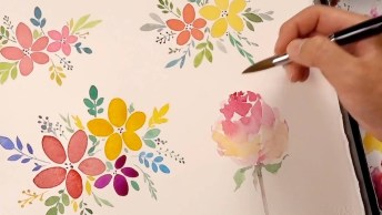 A Arte De Pintar Flores, Dá Gosto De Ver, Confira E Compartilhe!
