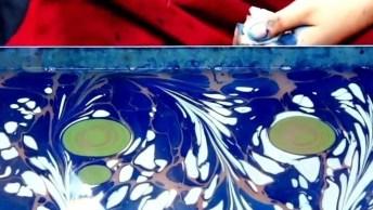 A Arte De Pintar Sobre A Água, Olha Só Que Trabalho Incrível!