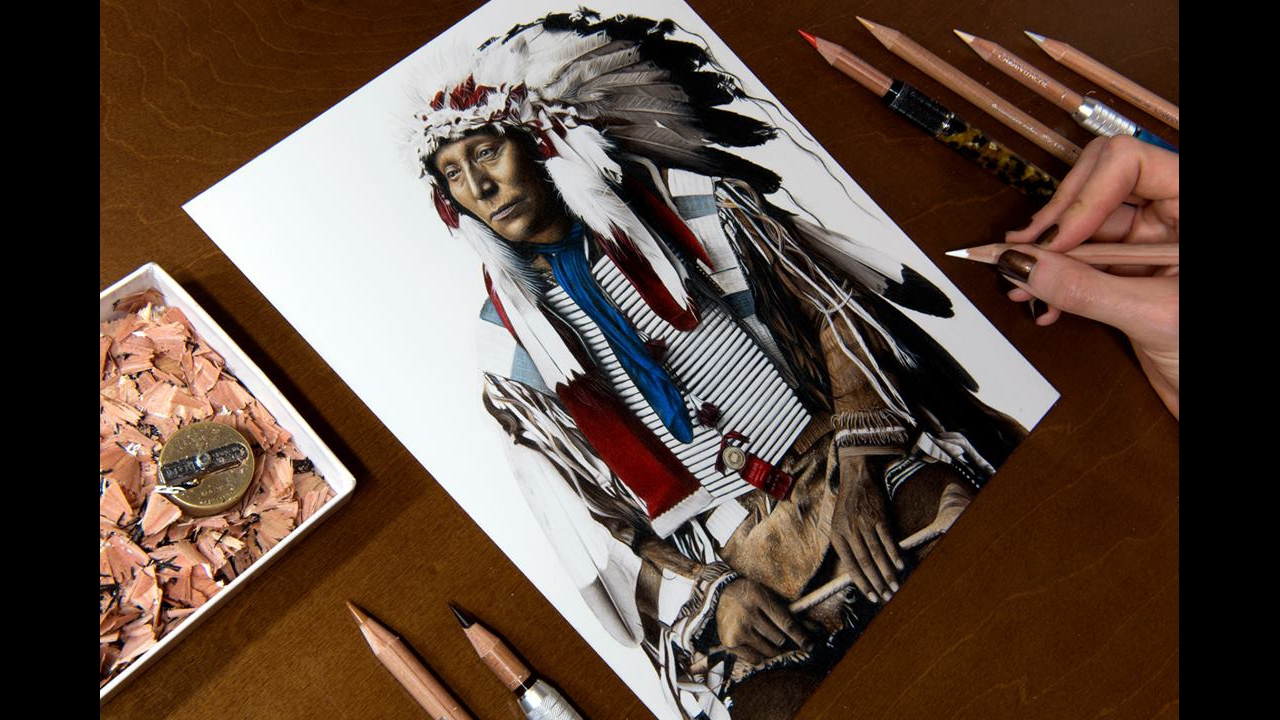 Arte de desenhar com riquezas de detalhes impressionantes