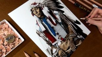 Arte De Desenhar Com Riquezas De Detalhes Impressionantes!