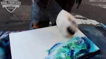 Arte De Desenhar Com Tinta Spray De Forma Maravilhosa, Vale A Pena Conferir!