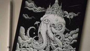 Arte De Desenhar De Forma Incrível, Com Detalhes Impressionantes!