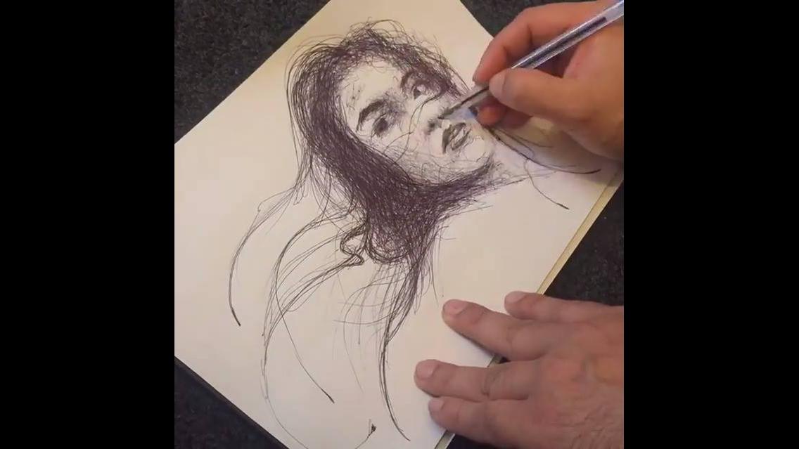 Arte de desenhar de forma mágica