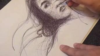 Arte De Desenhar De Forma Mágica, Da Gosto De Ver Um Dom Desse!