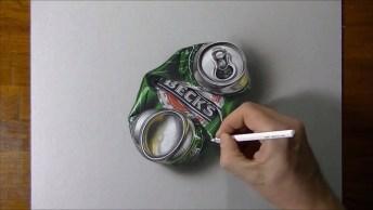 Arte De Desenhar Em 3D, Simplesmente Fantastico, Vale A Pena Conferir!