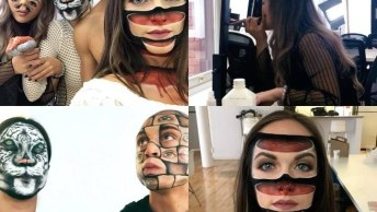 Arte De Desenhar No Rosto De Forma Assustadora E Criativa, Confira!