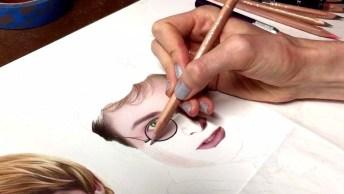 Arte De Desenhar Perfeitamente Seu Personagens Favoritos, Harry Potter!