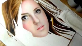 Arte De Desenhar Rosto De Forma Espetacular, Olha Só As Riquezas De Detalhes!